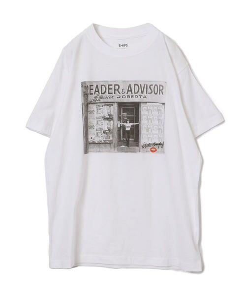 SHIPS for women / シップスウィメン Tシャツ | Roberta Bayley プリントTee | 詳細8