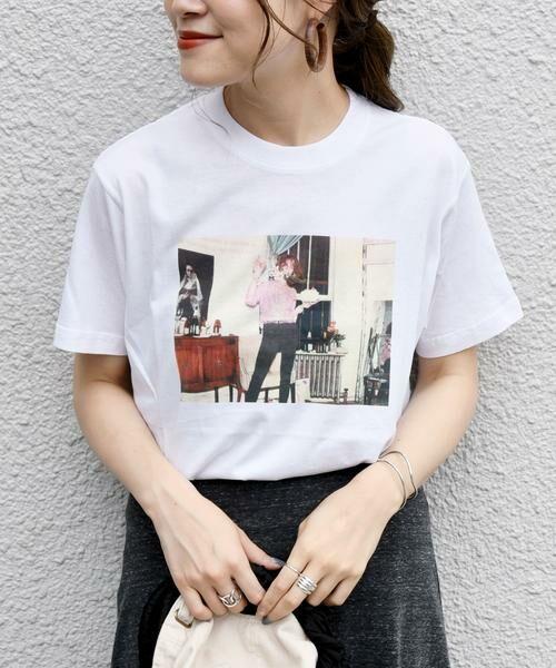 SHIPS for women / シップスウィメン Tシャツ | Roberta Bayley プリントTee | 詳細25