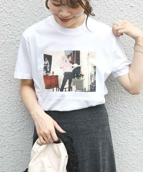 SHIPS for women / シップスウィメン Tシャツ | Roberta Bayley プリントTee(ホワイト)