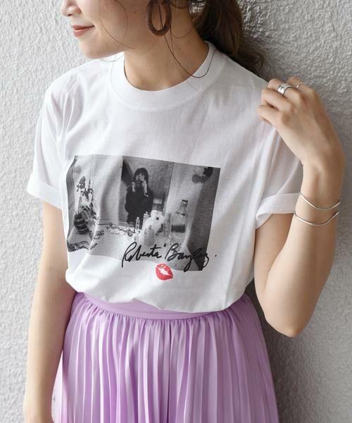 SHIPS for women / シップスウィメン Tシャツ   Roberta Bayley プリントTee   詳細30