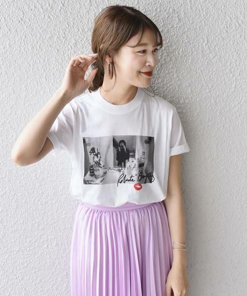 SHIPS for women / シップスウィメン Tシャツ | Roberta Bayley プリントTee(ホワイト系)