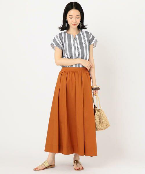SHIPS for women / シップスウィメン ミニ・ひざ丈スカート | タックスカート | 詳細8