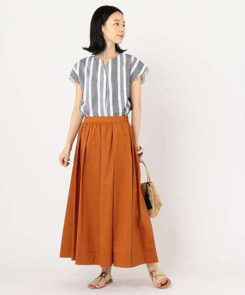 SHIPS for women / シップスウィメン ミニ・ひざ丈スカート | タックスカート | 詳細9