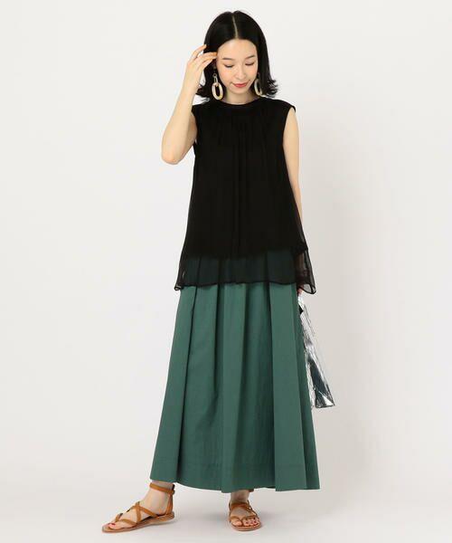 SHIPS for women / シップスウィメン ミニ・ひざ丈スカート | タックスカート | 詳細13