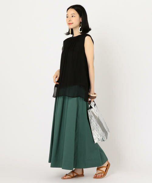 SHIPS for women / シップスウィメン ミニ・ひざ丈スカート | タックスカート | 詳細14