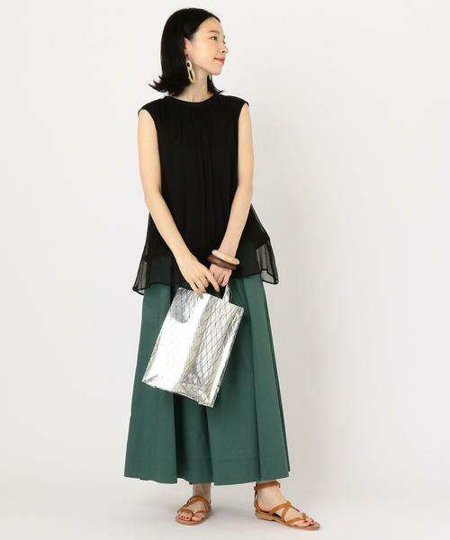 SHIPS for women / シップスウィメン ミニ・ひざ丈スカート | タックスカート | 詳細15