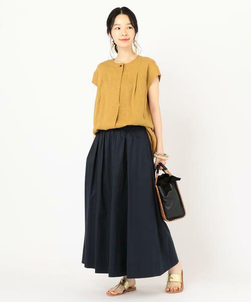 SHIPS for women / シップスウィメン ミニ・ひざ丈スカート | タックスカート | 詳細18