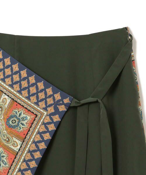 SHIPS for women / シップスウィメン ロング・マキシ丈スカート | スカーフプリントラップスカート | 詳細7