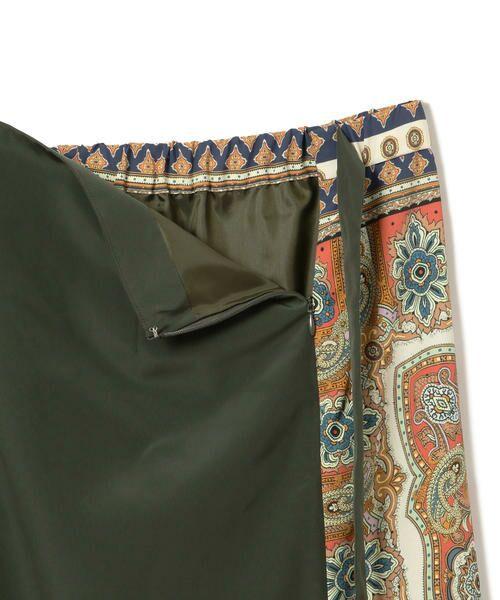 SHIPS for women / シップスウィメン ロング・マキシ丈スカート | スカーフプリントラップスカート | 詳細8