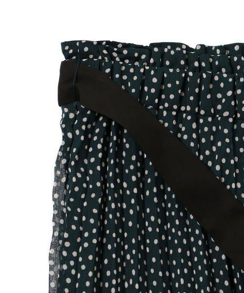 SHIPS for women / シップスウィメン ミニ・ひざ丈スカート | ドットプリーツスカート | 詳細5