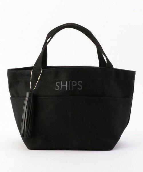 SHIPS for women / シップスウィメン トートバッグ | 《一部予約》タッセル ポケットトートバッグ◆(ブラック)