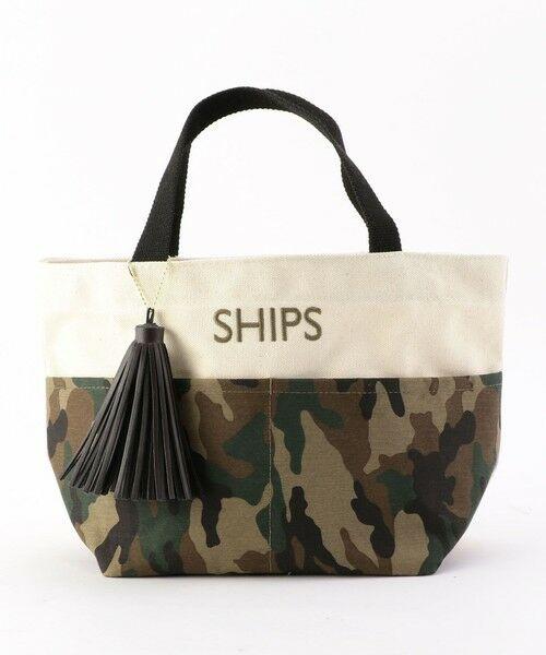 SHIPS for women / シップスウィメン トートバッグ | 《一部予約》タッセル ポケットトートバッグ◆(オリーブ)