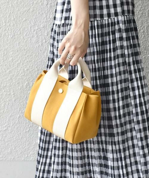 SHIPS for women / シップスウィメン トートバッグ | 《予約》VIOLAd'ORO:GINO SMALL TOTE ◆(イエロー系)