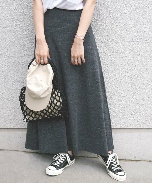 SHIPS for women / シップスウィメン ロング・マキシ丈スカート | CAL.Berries:ボードウォークマキシスカート(ブラック)