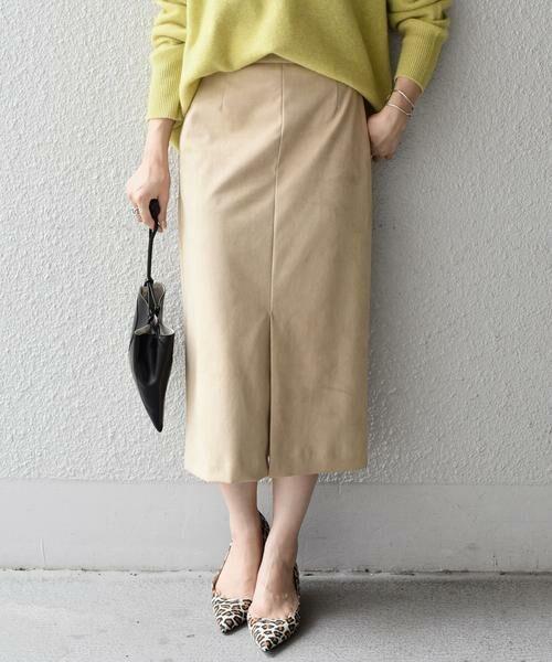 SHIPS for women / シップスウィメン ミニ・ひざ丈スカート | フェイクスエードタイトスカート◇ | 詳細2