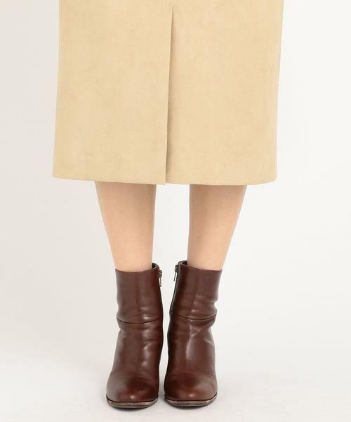 SHIPS for women / シップスウィメン ミニ・ひざ丈スカート | フェイクスエードタイトスカート◇ | 詳細12