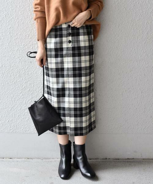 SHIPS for women / シップスウィメン ミニ・ひざ丈スカート | タータンチェックタイトスカート◇ | 詳細1