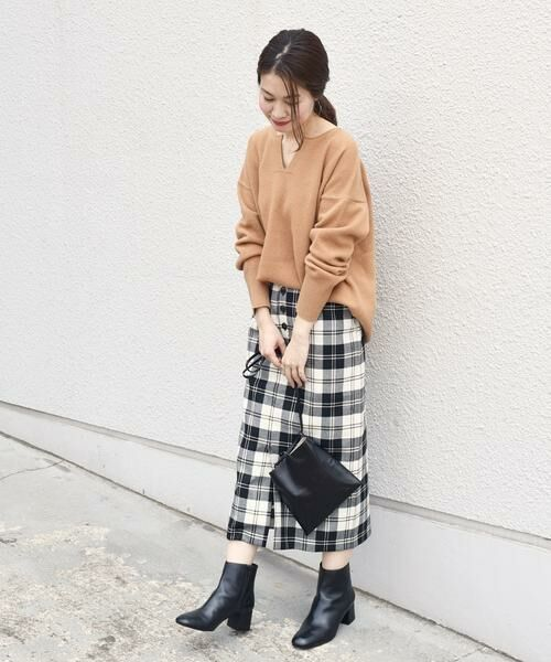 SHIPS for women / シップスウィメン ミニ・ひざ丈スカート | タータンチェックタイトスカート◇ | 詳細3