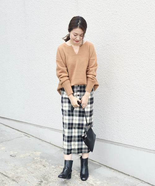 SHIPS for women / シップスウィメン ミニ・ひざ丈スカート | タータンチェックタイトスカート◇ | 詳細5