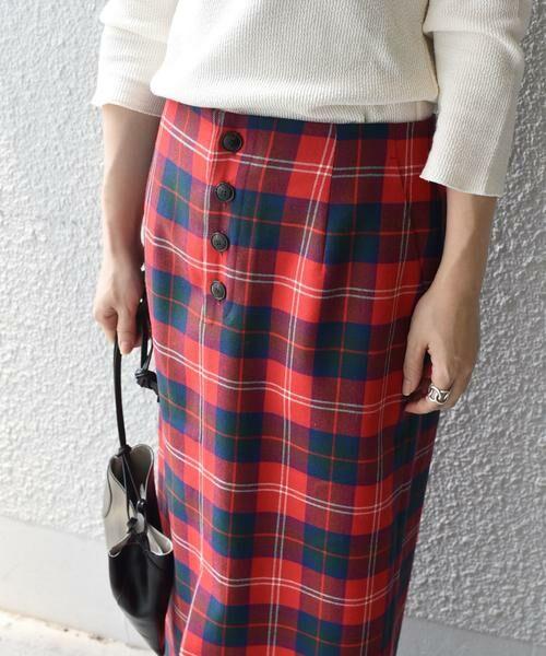 SHIPS for women / シップスウィメン ミニ・ひざ丈スカート | タータンチェックタイトスカート◇ | 詳細13