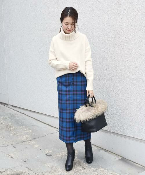 SHIPS for women / シップスウィメン ミニ・ひざ丈スカート | タータンチェックタイトスカート◇ | 詳細18