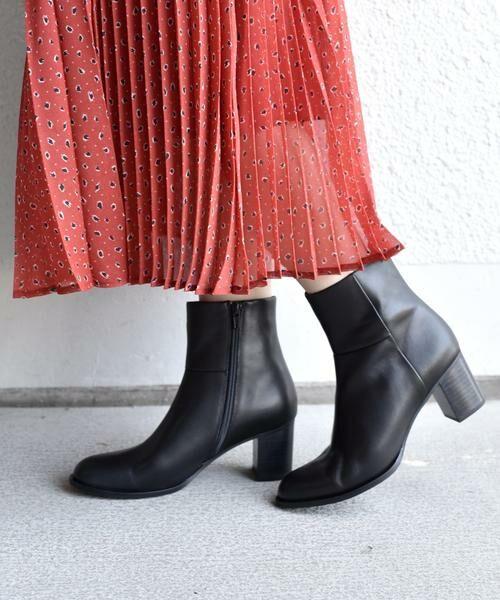 SHIPS for women / シップスウィメン ブーツ(ショート丈)   ミドルヒールブーツ◇(ブラック)