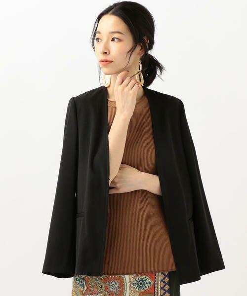 SHIPS for women / シップスウィメン ノーカラージャケット | 【セットアップ対応可能】羽織りジャケット | 詳細1
