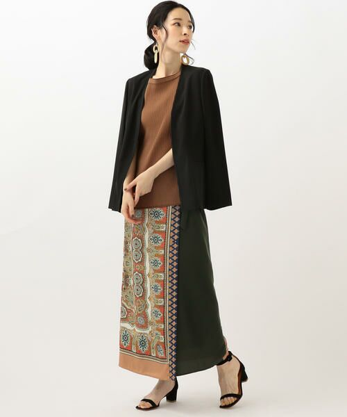 SHIPS for women / シップスウィメン ノーカラージャケット | 【セットアップ対応可能】羽織りジャケット | 詳細2