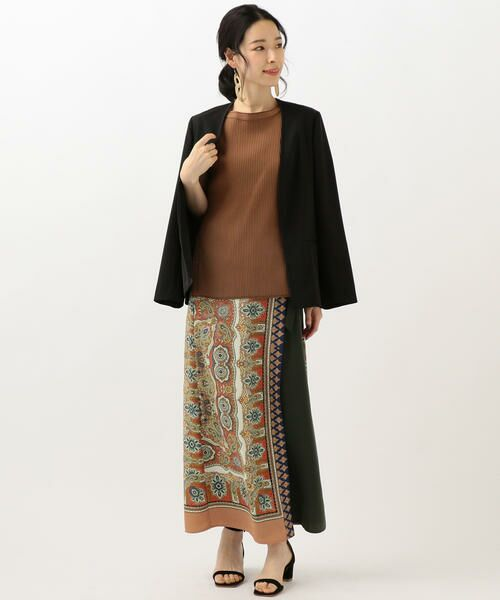 SHIPS for women / シップスウィメン ノーカラージャケット | 【セットアップ対応可能】羽織りジャケット | 詳細4