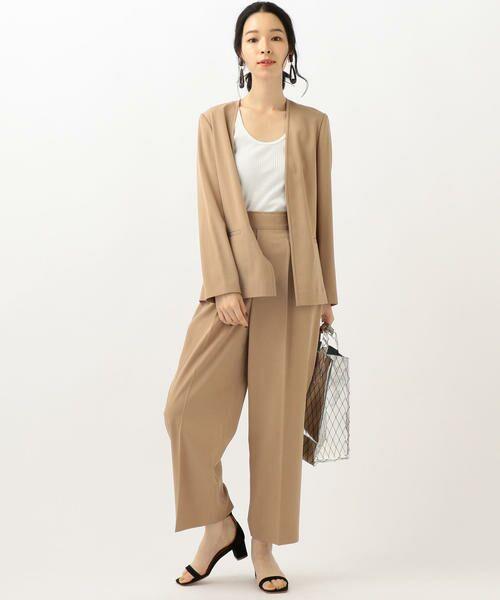 SHIPS for women / シップスウィメン ノーカラージャケット | 【セットアップ対応可能】羽織りジャケット | 詳細6