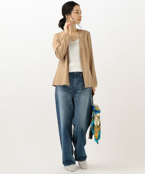 SHIPS for women / シップスウィメン ノーカラージャケット | 【セットアップ対応可能】羽織りジャケット | 詳細15