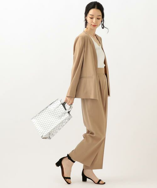 SHIPS for women / シップスウィメン ノーカラージャケット | 【セットアップ対応可能】羽織りジャケット | 詳細7