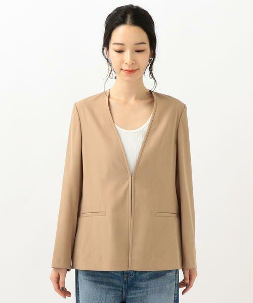 SHIPS for women / シップスウィメン ノーカラージャケット | 【セットアップ対応可能】羽織りジャケット | 詳細23