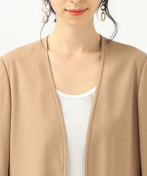 SHIPS for women / シップスウィメン ノーカラージャケット | 【セットアップ対応可能】羽織りジャケット | 詳細26