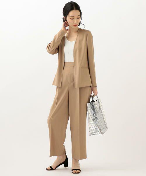 SHIPS for women / シップスウィメン ノーカラージャケット | 【セットアップ対応可能】羽織りジャケット | 詳細8