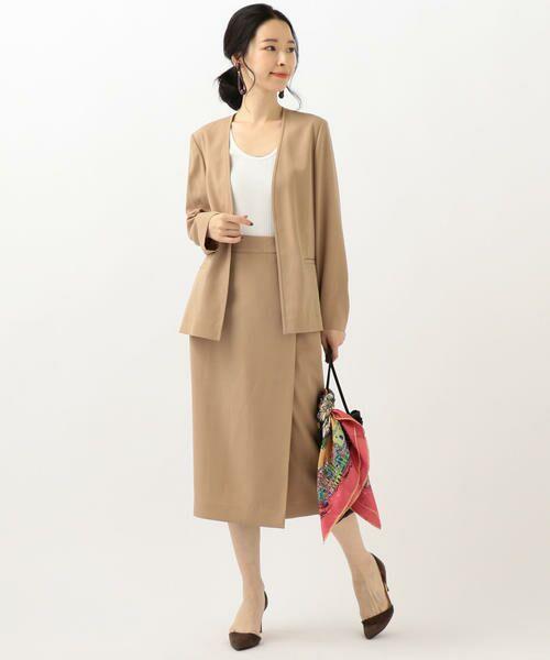 SHIPS for women / シップスウィメン ノーカラージャケット | 【セットアップ対応可能】羽織りジャケット | 詳細9