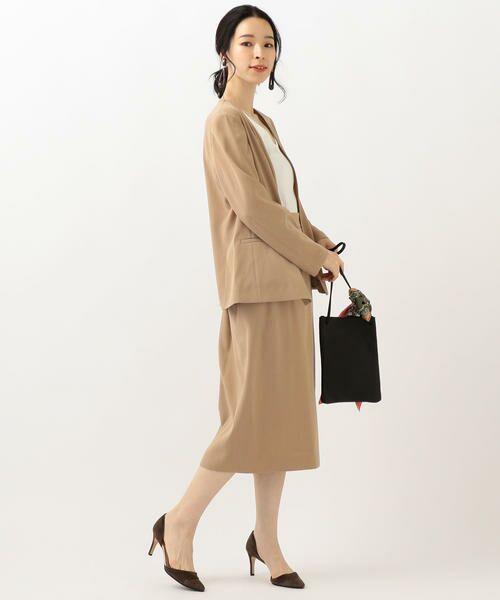 SHIPS for women / シップスウィメン ノーカラージャケット | 【セットアップ対応可能】羽織りジャケット | 詳細10