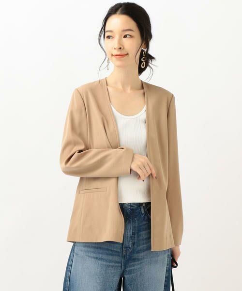 SHIPS for women / シップスウィメン ノーカラージャケット | 【セットアップ対応可能】羽織りジャケット | 詳細11