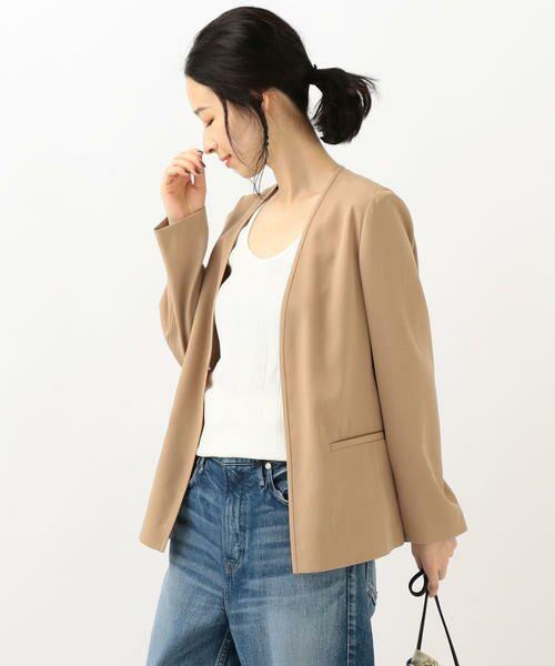 SHIPS for women / シップスウィメン ノーカラージャケット | 【セットアップ対応可能】羽織りジャケット | 詳細12
