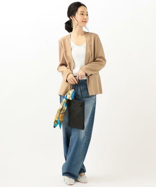 SHIPS for women / シップスウィメン ノーカラージャケット | 【セットアップ対応可能】羽織りジャケット | 詳細13