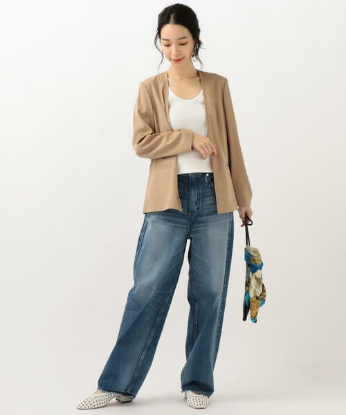 SHIPS for women / シップスウィメン ノーカラージャケット | 【セットアップ対応可能】羽織りジャケット | 詳細14