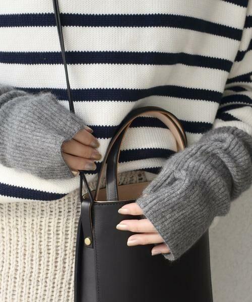 SHIPS for women / シップスウィメン 手袋 | 《予約》へアリーリストウォーマー 19FW◆(ダークグレー)