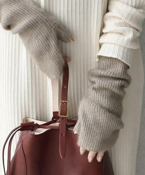 SHIPS for women / シップスウィメン 手袋 | 《予約》へアリーリストウォーマー 19FW◆ | 詳細8