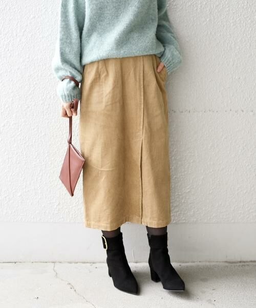 SHIPS for women / シップスウィメン ミニ・ひざ丈スカート | コーデュロイスリットスカート | 詳細15