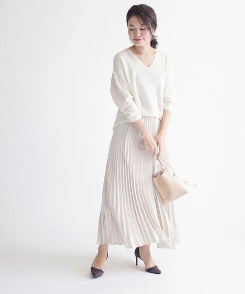 SHIPS for women / シップスウィメン ミニ・ひざ丈スカート | サテンプリーツスカート◇ | 詳細6