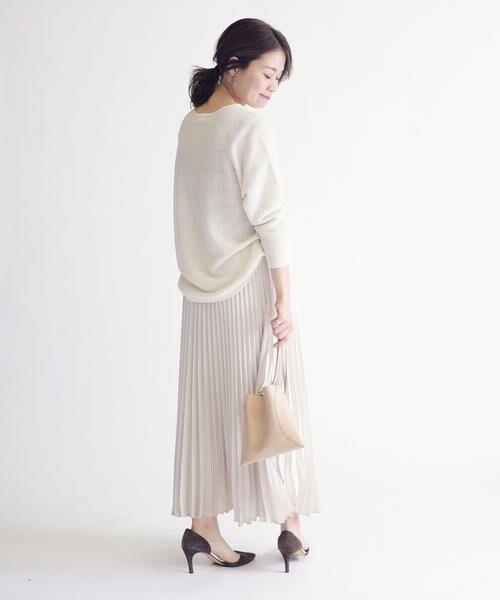 SHIPS for women / シップスウィメン ミニ・ひざ丈スカート | サテンプリーツスカート◇ | 詳細7