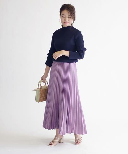 SHIPS for women / シップスウィメン ミニ・ひざ丈スカート | サテンプリーツスカート◇ | 詳細12