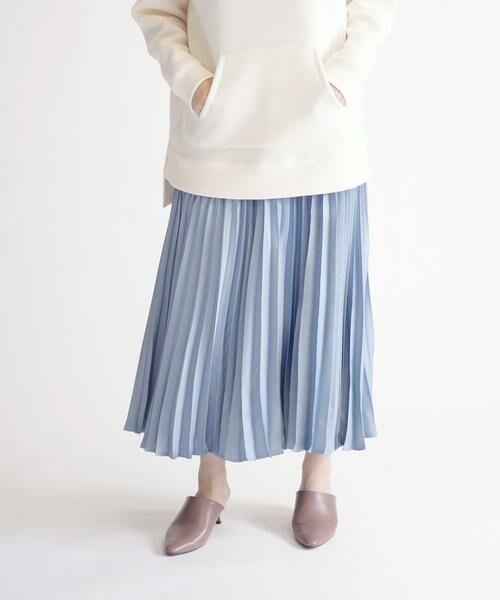 SHIPS for women / シップスウィメン ミニ・ひざ丈スカート | サテンプリーツスカート◇ | 詳細13