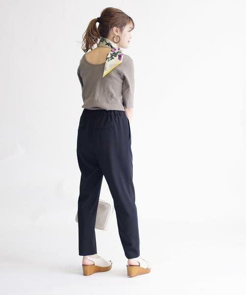 SHIPS for women / シップスウィメン その他パンツ   ドローストリングテーパードパンツ   詳細16