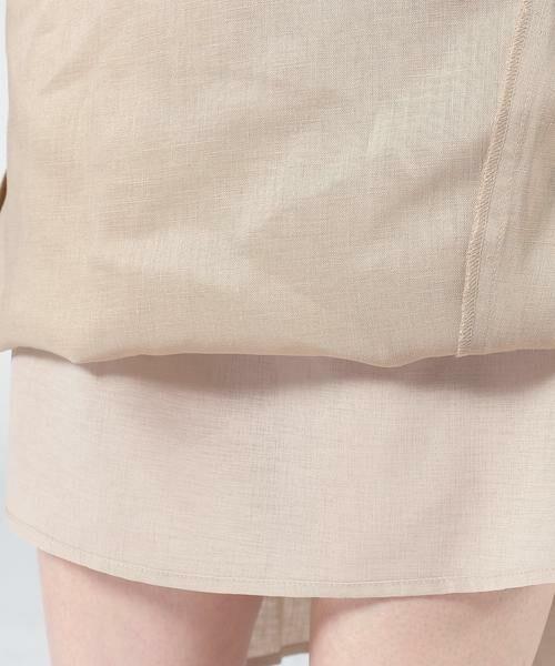 SHIPS for women / シップスウィメン ミニ・ひざ丈スカート | テレデランリネンスカート◇ | 詳細20